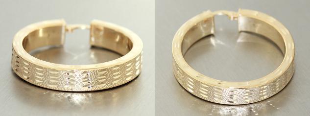 Große breite Creolen Silber 925 Gold Ohrringe - echte Silbercreolen vergoldet
