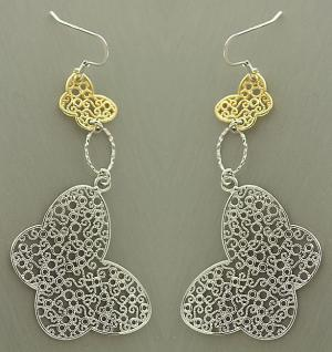 Schmetterling Ohrhänger Silber 925 Ohrringe große Schmetterlinge - Silberstecker