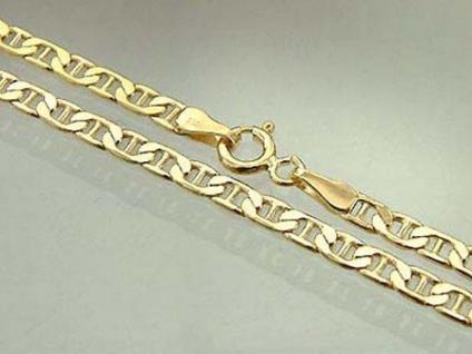 SUPERKETTE IN GOLD 585 - FLACHE GOLDKETTE 45 CM HALSKETTE - KETTE GOLD 14 KT