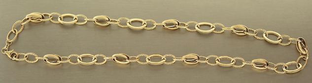 COLLIER GOLD 585 - GROSSE GLIEDER - 46 CM GOLDKETTE - KETTE GOLD HALSKETTE 10 gr