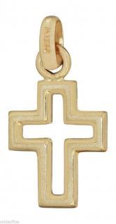 WUNDERSCHÖNES KLEINES GOLDKREUZ 585 - ANHÄNGER KREUZ DURCHBROCHEN - GOLD 14 KT