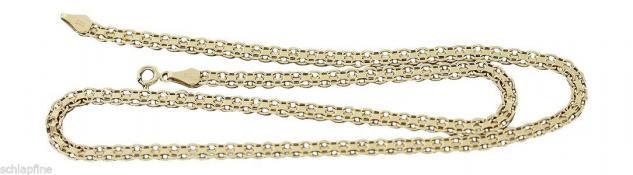 FLACHES COLLIER GOLD 585 - GOLDKETTE - 45 CM KETTE GOLD HALSKETTE GESCHLIFFEN