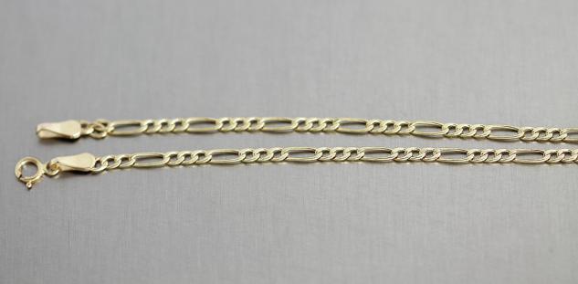 BELIEBTE GOLDKETTE 585 - 50 CM HALSKETTE - FIGAROKETTE - KETTE GOLD
