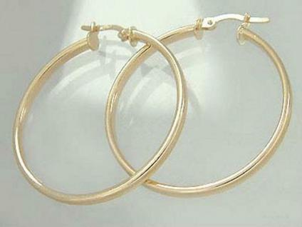CREOLEN - GROSSE OHRRINGE GOLD 585 - OHRSCHMUCK ca. 3, 5 CM - GOLDCREOLEN