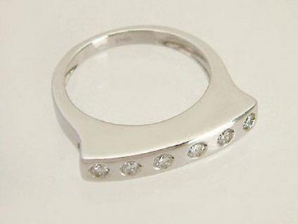 COOLES DESIGN - WEISSGOLDRING 750 - BRILLANTRING 0, 32 ct. - RING WEISSGOLD
