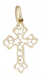 Kleines zartes Kreuz Gold 585 / 14 K. Anhänger Goldkreuz Goldanhänger