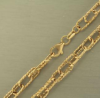 50 CM GOLDKETTE 585 - GROSSE GLIEDER - KETTE GOLD 14 KT - HALSKETTE - COLLIER
