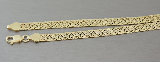 45 CM ELEGANTES COLLIER GOLD 585 GOLDKETTE HALSKETTE - KETTE GOLD - GOLDCOLLIER