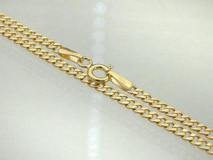 PANZERKETTE GOLD 585 - HALSKETTE - GOLDKETTE 55 CM - KETTE GOLD 14 KT