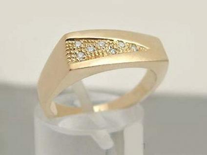 Ring Gold 585 mit Brillanten - massiver Brillantring - Goldring 14kt - Damenring