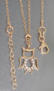 Massive Silberkette 925 vergoldet mit Anhänger Engel / Teufelchen - Kette Silber