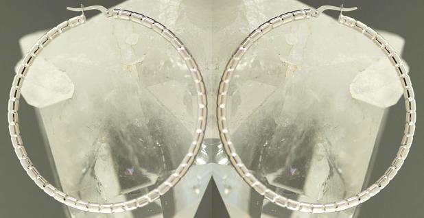 5, 7 cm GROSSE CREOLEN WEISSGOLD 585 - OHRRINGE - TOP DESIGN WEISSGOLDCREOLEN