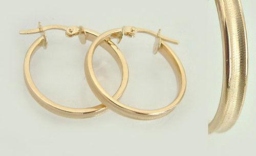 Große Creolen in Gold 585 - zeitlose Ohrringe - 3, 4 cm Goldohrringe Goldcreolen