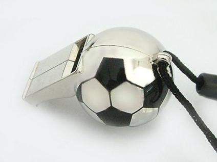 Fußball Pfeife -Trillerpfeife - Fanartikel Pfeife massive Schiedsrichterpfeife