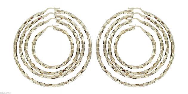 GROSSE CREOLEN GOLD 585 OHRRINGE GOLDCREOLEN 3, 6 cm / 4, 6 cm / 5, 5 cm / 6, 5 cm