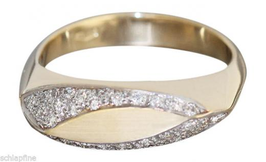 Brillantring 0, 36 ct. Ring Gold 585 Brillanten Goldring massiv Damenring RW 59