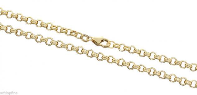 55 CM ERBSKETTE GOLD 585 - GOLDKETTE 14 KT MIT KARABINER - KETTE GOLD HALSKETTE