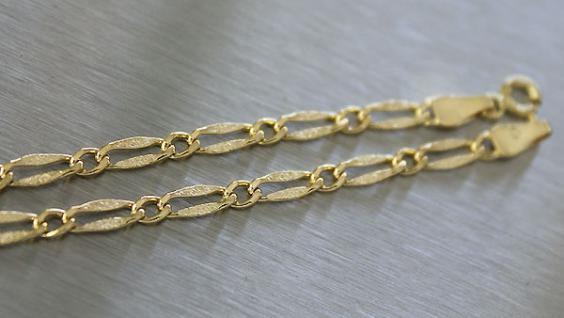 45 CM GOLDKETTE 585 - FLACHE HALSKETTE ECHT GOLD 14 KT - FEINE KETTE GOLD 585