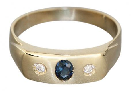 Allianzring Gold 585 mit Safir u. Brillant Goldring Damenring Brillantring RW 56