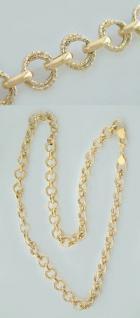 62 CM GOLDKETTE 585 GROSSE RUNDE GLIEDER HALSKETTE 14KT - KETTE GOLD