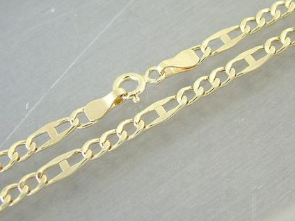 50 CM GOLDKETTE 585 - PANZERMUSTER ANKERMUSTER - HALSKETTE ECHT GOLD 14 KT