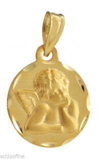 SCHUTZENGEL ANHÄNGER GOLD 585 - GOLDANHÄNGER ENGEL 14 KT - TAUFE - KOMMUNION