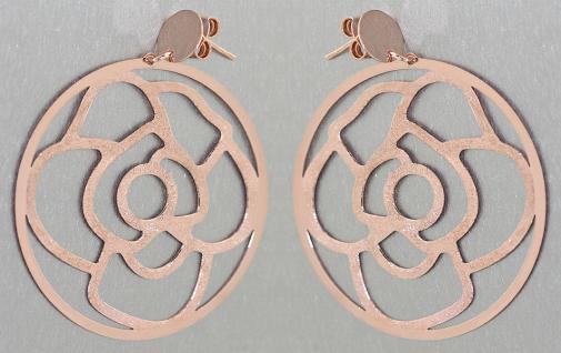 Große Ohrhänger Silber 925 Rotgold Ohrstecker - Silberohrstecker Ohrringe Hänger