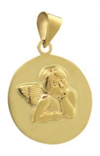 Anhänger Schutzengel Gold 585 - Goldanhänger Engel - Taufe - Kommunion Goldengel