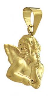 Kleiner Schutzengel Raffael Gold 585 - Goldanhänger Engel - Anhänger zur Taufe