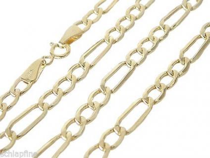 60 CM GOLDKETTE 585 - FIGAROKETTE - HALSKETTE ECHT GOLD 14 KT - KETTE GOLD 585
