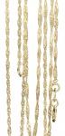 45 / 50 cm massive feine Singapurkette Gold 333 Halskette Goldkette 1, 8 mm Kette