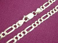 50 cm massive Silberkette - Panzerkette 925 - Halskette Silber - Kette Silber