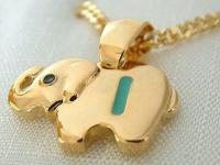 Kette u Anhänger Elefant Gold pl mit Buchstabe B E I L P U Y Gold pl Kinderkette