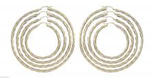 Große Creolen Gold 585 - Ohrringe Goldcreolen 3, 6 cm / 4, 6 cm / 5, 6 cm / 6, 5 cm