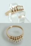 Diamantring 0, 60 ct - Ring Gold 10 kt Navette Diamanten - Goldring - Damenring