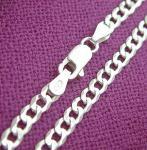 50 cm massive Panzerkette - Halskette - Silberkette 925 massiv - Kette Silber