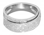 Edler Diamantring Weißgold 585 / 14 Karat Damenring Weissgoldring Diamanten