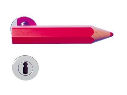 Türöffner in Form eines Buntstiftes