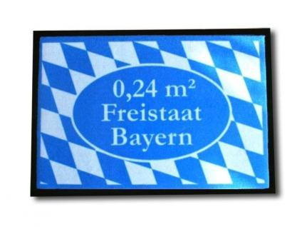 Die originelle Fußmatte 0, 24 Quadratmeter Freistaat Bayern in blau - Vorschau