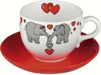 Jumbo Tasse - Verliebte Elefanten