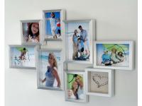 8-Fach Fotogalerie Bilderrahmen 9x13 bis 13x18 silber