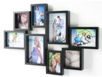 8-Fach Fotogalerie Bilderrahmen 9x13 bis 13x18 schwarz