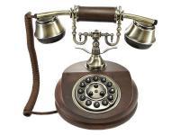 Nostalgisches altes Telefon mit neuer Technik 1913 braun