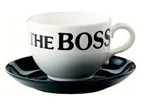 Jumbo Tasse - The Boss mit Untersetzer