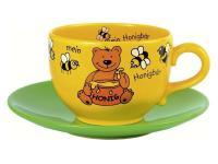 Jumbo Tasse - Mein Honigbär mit Untersetzer
