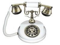 Nostalgisches altes Telefon mit neuer Technik 1913 WEISS
