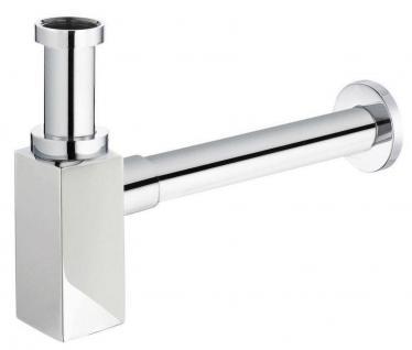 """Design Röhrensifon 1 1/4"""" x32mm Geruchsverschluss Waschtischsifon Badsifon *8102"""
