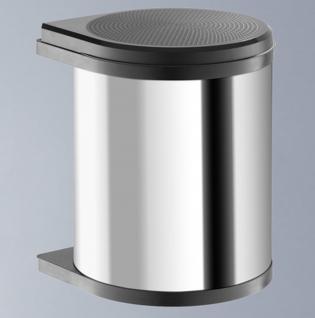 Hailo Mono Abfall Mülleimer Küche 15 Liter Edelstahl Bad Kosmetikeimer *43525