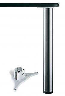 Tischbein ALTO 1100mm Stützfuss Ø 60mm Traglast 150Kg Möbelbein höhenverstellbar