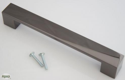 Kommoden-/Möbelgriff BA 160 mm Schwarzchrom Design Schrank Tür Küchengriff *615